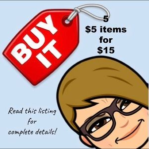 Get 5 $5 items for $15!